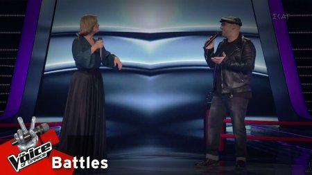Louise du Toit vs Δημήτρης Καραγιάννης - I Knew You Were Waiting (For Me) | 1o Battle | The Voice of Greece