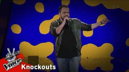 Βασίλης Χατζιστεφάνου - Rock'n' roll star | 4o Knockout | The Voice of Greece