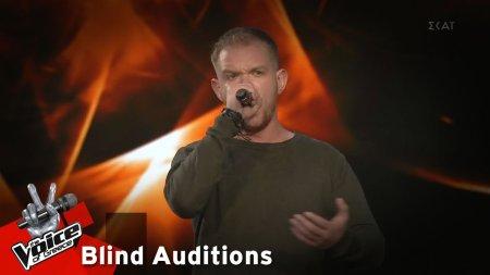 Πέτρος Ζέρβας - Άμλετ της Σελήνης | 11o Blind Audition | The Voice of Greece