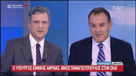 Ο Ν. Παναγιωτόπουλος, Υπ. Εθνικής Άμυνας στον ΣΚΑΪ