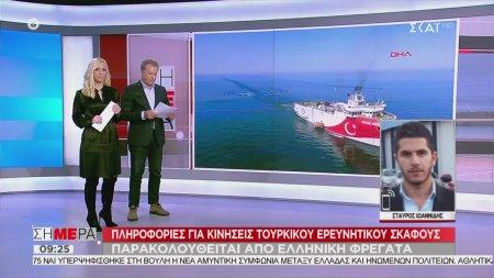 Κινήσεις τουρκικού ερευνητικού σκάφους κοντά στην ελληνική υφαλοκρηπίδα