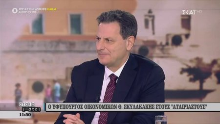 Ο υφυπουργός οικονομικών Θ. Σκυλακάκης μιλάει για την 13η σύνταξη και τις μειώσεις φόρων