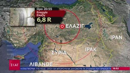 Τρόμος και πανικός από τον σεισμό στην Τουρκία