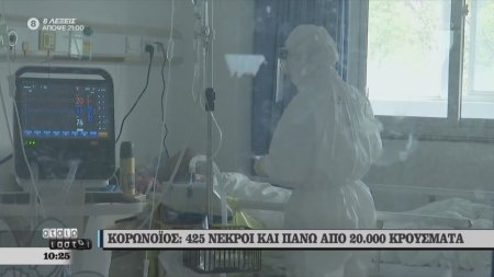 Κορωνοϊός: 425 νεκροί και πάνω από 20.000 κρούσματα