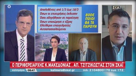 Ο Περιφερειάρχης Κ. Μακεδονίας Α. Τζιτζικώστας στον ΣΚΑΪ