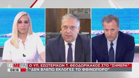 Θεοδωρικάκος: Δεν βλέπω εκλογές το φθινόπωρο | 10/06/2020