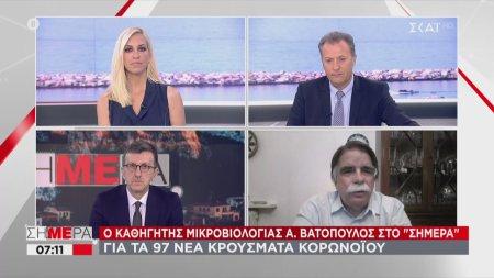 Α. Βατόπουλος: Θα έχουμε πισωγύρισμα αν συνεχίσουμε έτσι | 09/06/2020