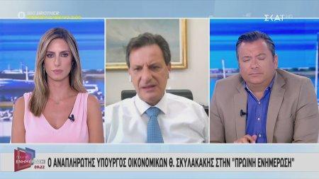 Σκυλακάκης: Το κράτος θα συνεχίσει να παρεμβαίνει μέχρι να επανέλθει ο τουρισμός σε μια κανονικότητα