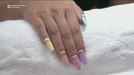 Semilac : Rainbow manicure
