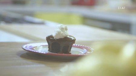 Σουφλέ σοκολάτας με καραμέλα