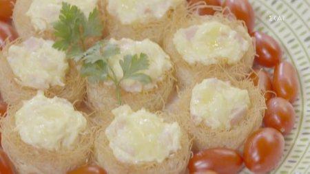 Αλμυρές φωλιές με τυριά