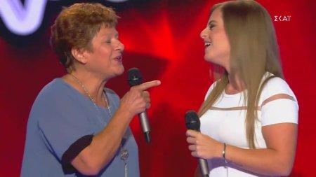 Γιαγιά δίνει τα ρέστα της στην σκήνη του Voice