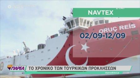 Το χρονικό των τουρκικών προκλήσεων