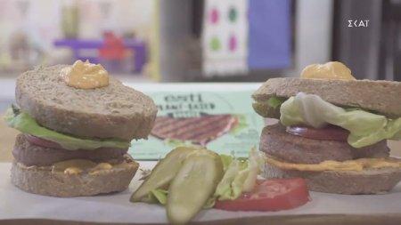 Σάντουιτς με vegan μπιφτέκι