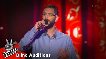 Νεκτάριος Μαλογρίδης - Καίγομαι και σιγολιώνω | 11o Blind Audition | The Voice of Greece
