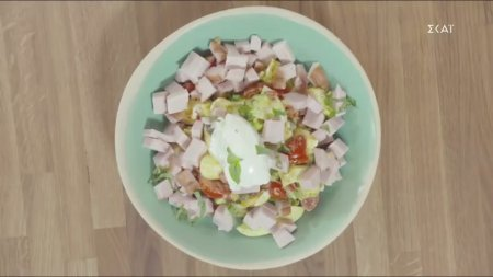 Σαλάτα με αβγά και ντοματίνια