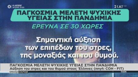 Παγκόσμια μελέτη ψυχικής υγείας - Αύξηση του στρες και του θυμού στους Έλληνες λόγω της πανδημίας