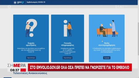 Στο emvolio.gov.gr όλα όσα πρέπει να γνωρίζετε για το εμβόλιο