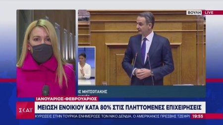 Κ. Μητσοτάκης: Μείωση ενοικίου κατά 80% στις πληττόμενες επιχειρήσεις