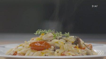 Κριθαρότο με κοτόπουλο & λαχανικά