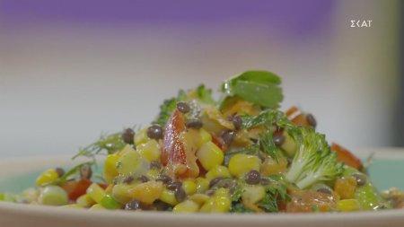 Υγιεινές φακές σαλάτα