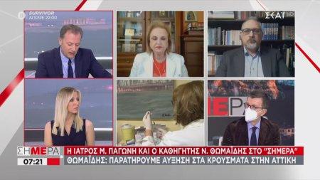 Αύξηση ιικού φορτίου στα λύματα της Αττικής - Παγώνη σε ΣΚΑΪ: Δεν αντέχει τρίτο κύμα το ΕΣΥ
