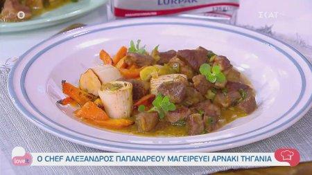 Ο chef Αλέξανδρος Παπανδρέου μαγειρεύει αρνάκι τηγανιά