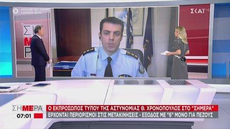 Ο εκπρόσωπος Τύπου της αστυνομίας Θ. Χρονόπουλος για το μπαράζ επιθέσεων