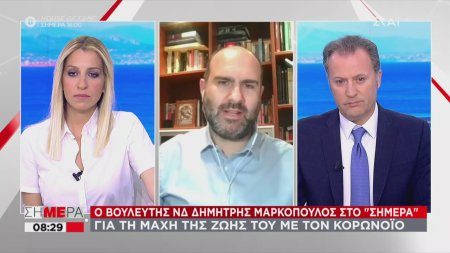 Ο βουλευτής Δημήτρης Μαρκόπουλος μιλάει για τη μάχη του με τον κορωνοϊό