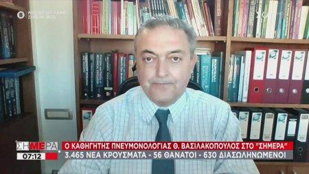 Βασιλακόπουλος: Το lockdown δεν είναι πλέον αποτελεσματικό - Να ανοίξουν τα μικρά εμπορικά