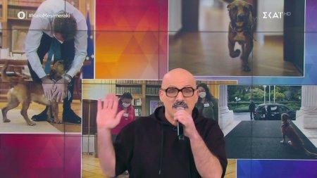 Ο Νίκος Μουτσινάς τραγουδάει για τον αδέσποτο σκύλο του Μαξίμου
