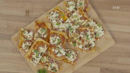 Πίτσα με φέτα & σαλάμι