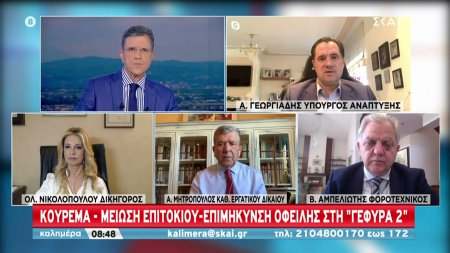 Α. Γεωργιάδης: Κούρεμα - Μείωση επιτοκίου - Επιμήκυνση οφειλής στη
