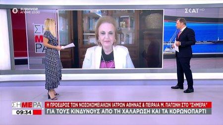 Η πρόεδρος των νοσοκομειακών ιατρών Αθήνας & Πειραιά Μ. Παγώνη στο