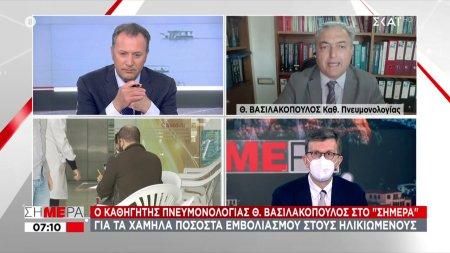 Ο Θ. Βασιλακόπουλος για το εμβόλιο της AstraZeneca