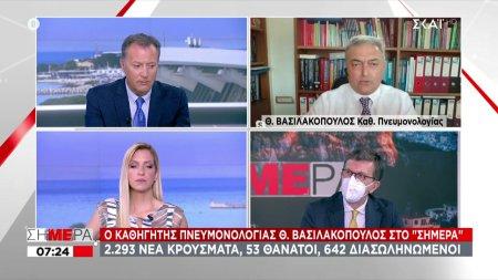 Βασιλακόπουλος σε ΣΚΑΪ: «Καμπάνα» για τη χαλάρωση - Προσοχή στις τουριστικές περιοχές