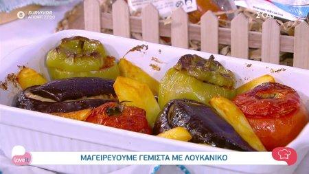 Ο chef Αλέξανδρος Παπανδρέου μαγειρεύει γεμιστά με λουκάνικο