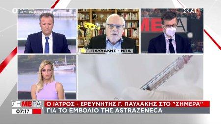 Παυλάκης σε ΣΚΑΪ για τη δεύτερη δόση του εμβολίου της AstraZeneca