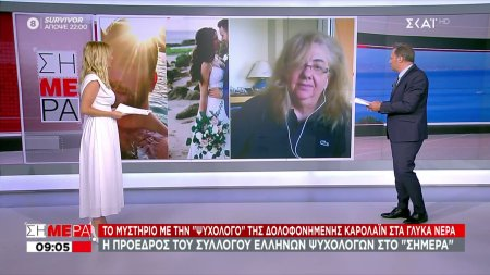 Η Πρόεδρος του συλλόγου Ελλήνων Ψυχολόγων στον ΣΚΑΪ