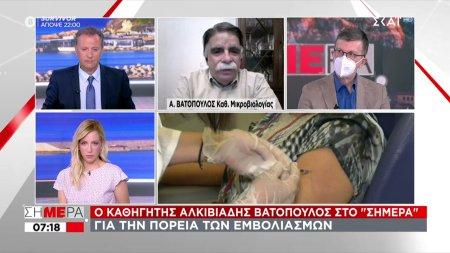 Βατόπουλος σε ΣΚΑΪ: Μη βιαζόμαστε να πετάξουμε τη μάσκα – Πότε θα χτιστεί τείχος ανοσίας