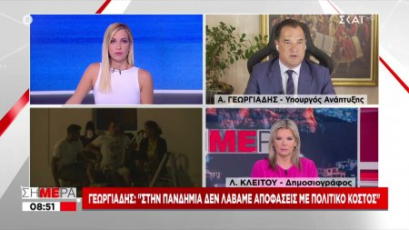 Γεωργιάδης: Στην πανδημία δεν λάβαμε αποφάσεις με βάση το πολιτικό κόστος