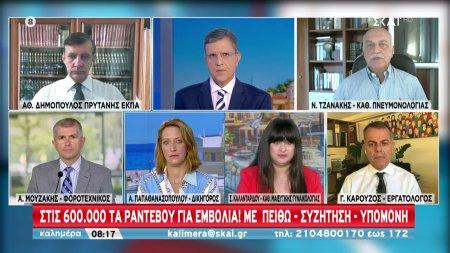 Δημόπουλος-Τζανάκης σε ΣΚΑΪ: Ο ιός δεν θα χαριστεί σε κανέναν -Ανεπιφύλακτα εμβολιάζονται τα παιδιά