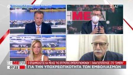 Παναγιωτόπουλος σε ΣΚΑΪ: Να εμβολιαστούν όλοι άμεσα - Πόλωση και στιγματισμός δεν αποδίδουν