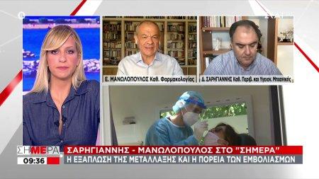 Σαρηγιάννης - Μανωλόπουλος: Δύσκολο να πετύχουμε ανοσία τον Αύγουστο - Θα συνεχίσουμε να βλέπουμε υψηλό αριθμό κρουσμάτων