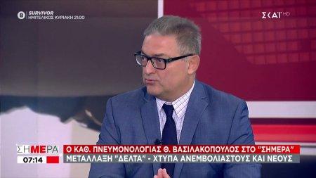 Βασιλακόπουλος: Μαθηματικά βέβαιο το νέο κύμα κορωνοϊού το φθινόπωρο