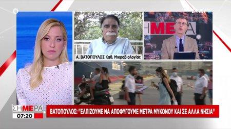 Βατόπουλος: Υπάρχουν και νέοι στις ΜΕΘ - Όσο εμβολιαζόμαστε, τόσο θα μειώνονται οι μεταλλάξεις