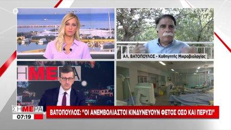 Βατόπουλος σε ΣΚΑΪ: Εμβολιαστείτε οι μεγαλύτεροι- Πλέον ο κίνδυνος είναι μεγαλύτερος