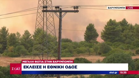 Πυρκαγιά στη Βαρυμπόμπη: Έκλεισε η Εθνική Οδός προς Λαμία- Έτοιμο σχέδιο για εκκένωση της περιοχής