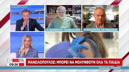Μανωλόπουλος: Μπορεί να μολυνθούν όλα τα παιδιά