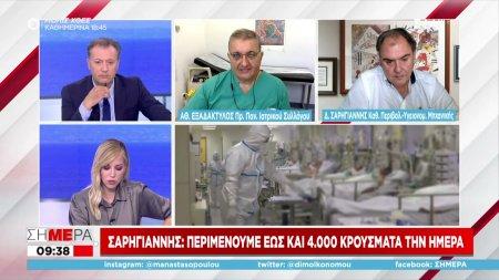 Σαρηγιάννης σε ΣΚΑΪ: Περιμένουμε έως και 4000 κρούσματα την ημέρα